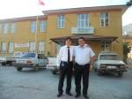 Harun Esener, Türk Telekom, Erzincan il ziyareti, ilkokulumun önünde hatıra fotoğrafı - 2011